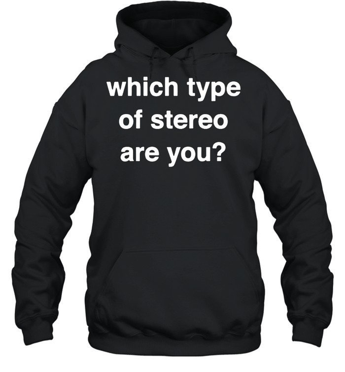 Which type of stereo are you shirt Unisex Hoodie