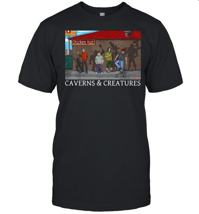 Chicken Hut Caverns And Creatures  Classic Men's T-shirt