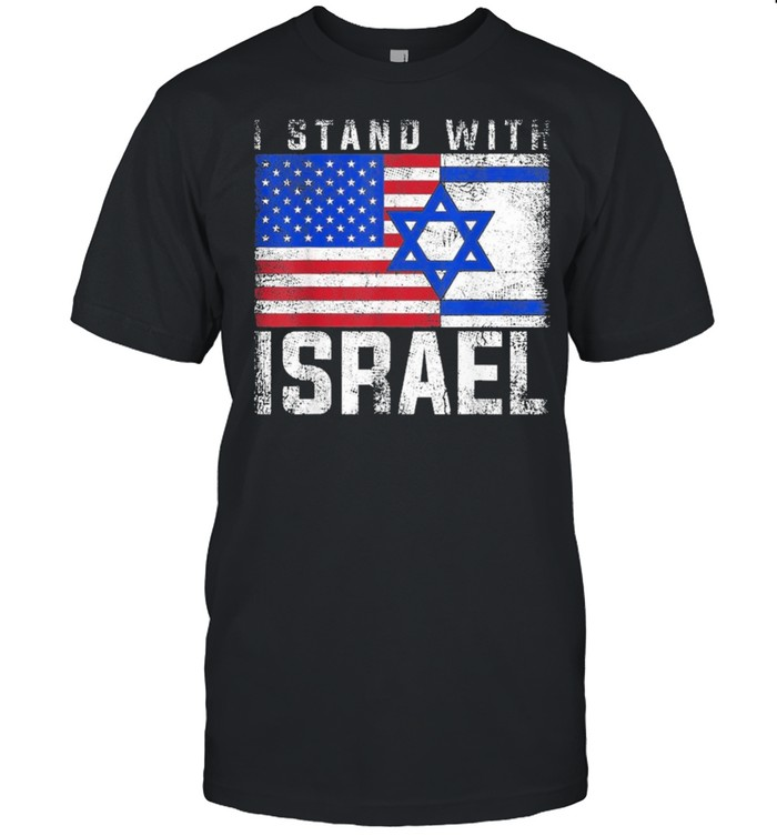 I stand with israel palestine American flag shirt Classic Men's T-shirt