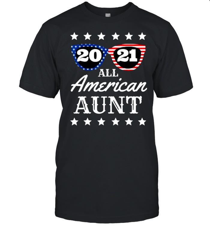All American Aunt 4th Of July Aunty Sunglasses 2021 T- Classic Men's T-shirt