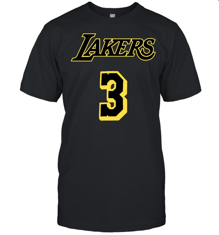 Los Angeles Lakers Number 3  Classic Men's T-shirt