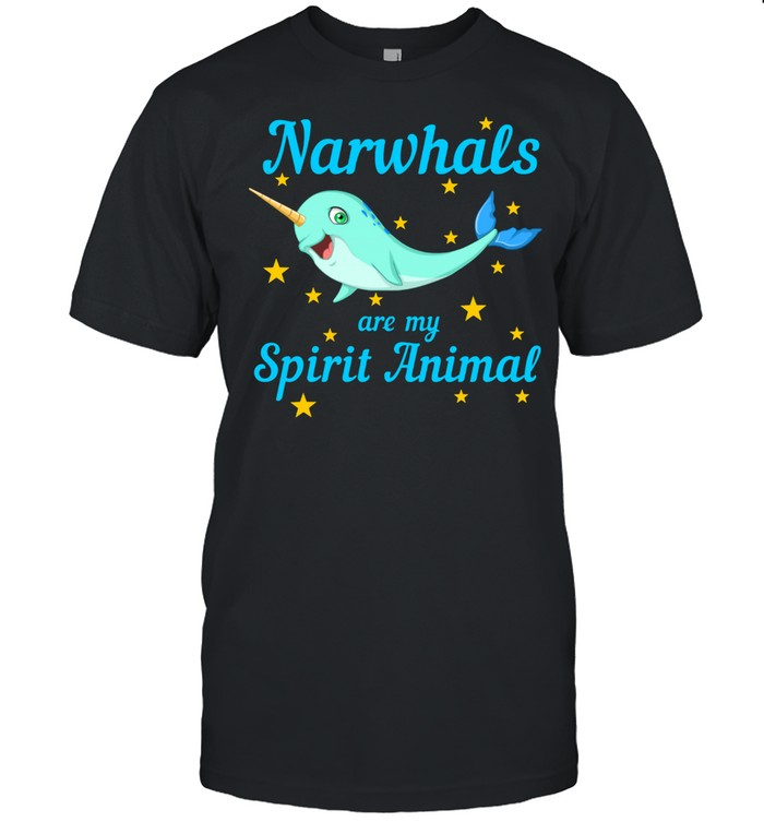 Cool Narwhals Are My Spirit Animal Sea Creature shirt Classic Men's T-shirt