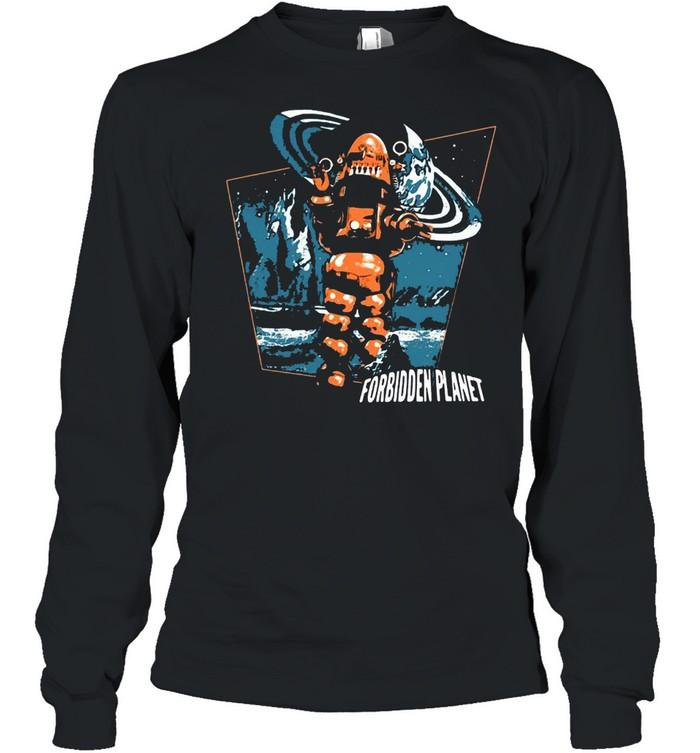 Forbidden Planet Robby Walks T-shirt Long Sleeved T-shirt