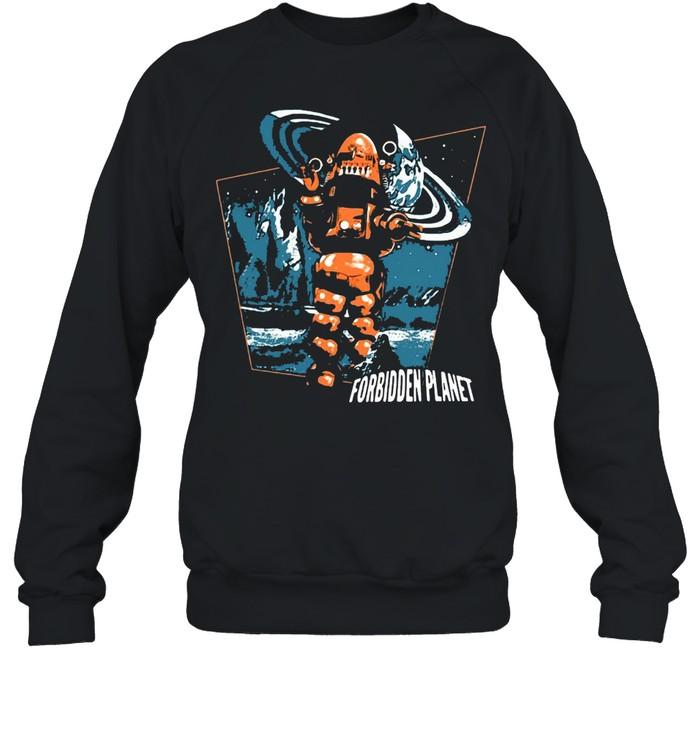 Forbidden Planet Robby Walks T-shirt Unisex Sweatshirt