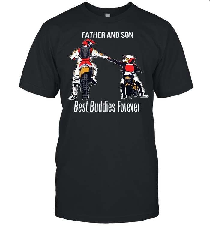 Motocross Father And Son Best Buddies Forever T-shirt Classic Men's T-shirt