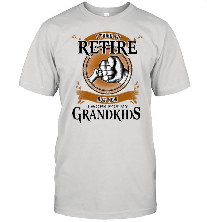 I Tried To Retire But Now I Work For My Grandkids Retro shirt Classic Men's T-shirt