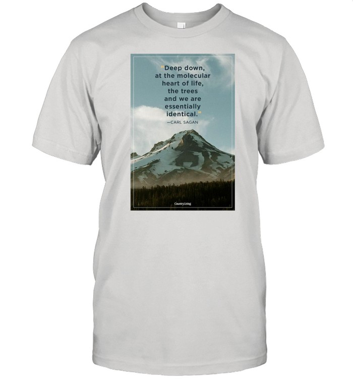 Deep Down At The Molecular Heart Of Life The Trees And We Are Essentially Identical T-shirt Classic Men's T-shirt