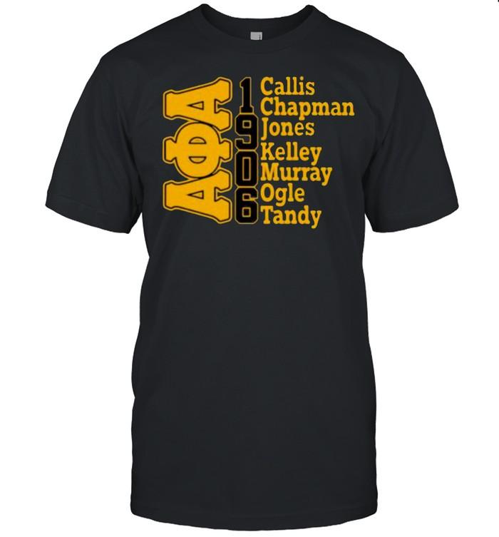 Alpha phi alpha Callis chapman jones kelley murray ogle tandy 1906 shirt Classic Men's T-shirt