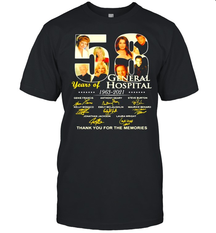 58 years of general hospital 1963 2021 thank you for the memories signature shirt Classic Men's T-shirt