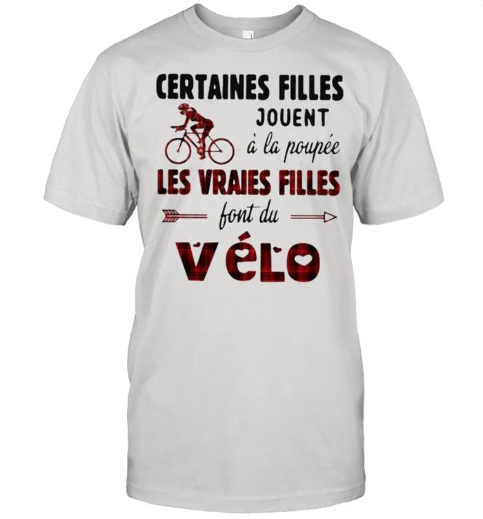 Certaines filles Les vraies filles font du vélo shirt Classic Men's T-shirt
