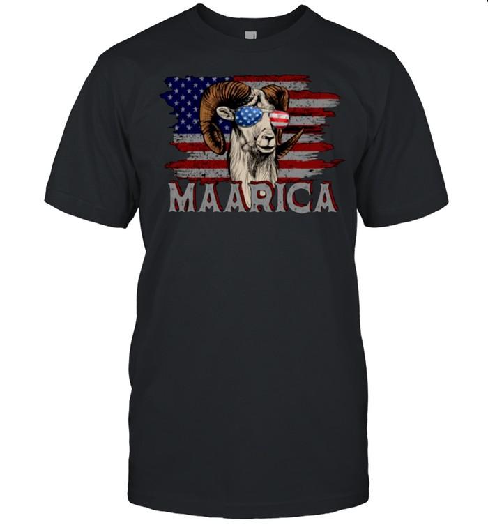 Maarica American Flag Goats Lovers 4th Of July T- Classic Men's T-shirt