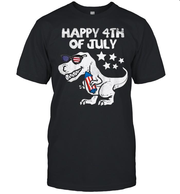 Happy 4th Of July Trex Dinosaur American Dino T- Classic Men's T-shirt