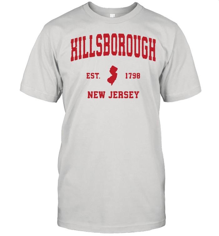 Hillsborough New Jersey 1798 NJ Vintage Sports  Classic Men's T-shirt