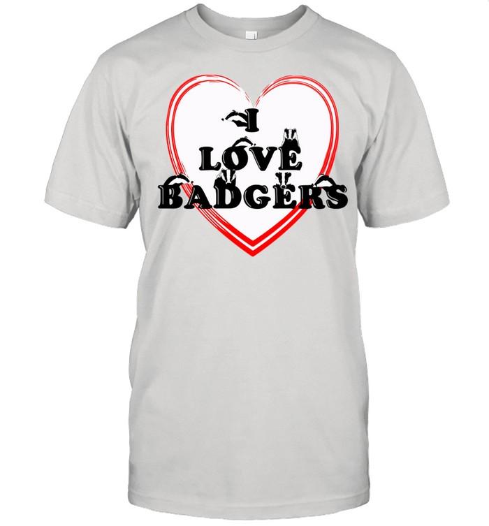 Ich liebe Dachse Langarmshirt shirt Classic Men's T-shirt