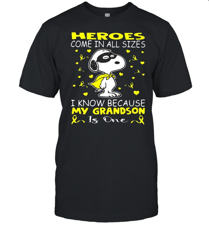 Snoopy Heroes Come In All Sizes I Know Because My Grandson Is One  Classic Men's T-shirt