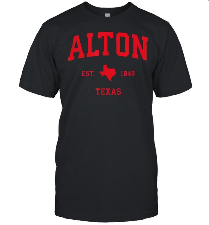 Alton Texas TX Est 1848 Vintage Sports T- Classic Men's T-shirt