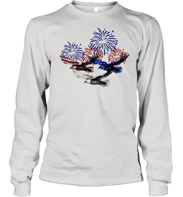 Eagle heart 4th of july shirt Long Sleeved T-shirt
