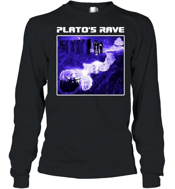 Raver Philosopher Plato's Rave Cave Allegory T-shirt Long Sleeved T-shirt