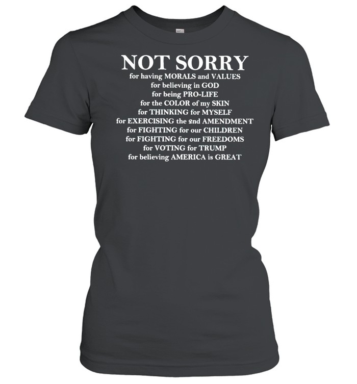 Not sorry for voting for Trump shirt Classic Women's T-shirt