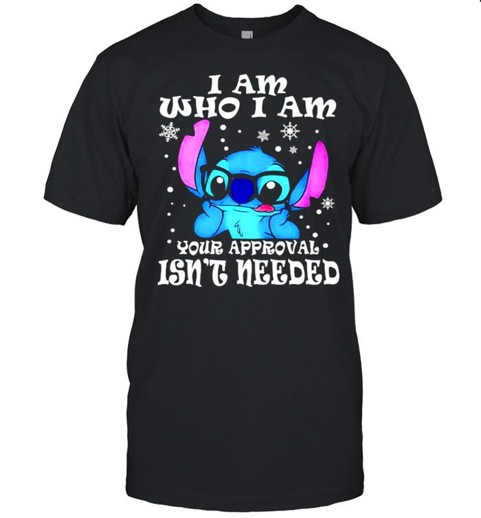 I Am Who I Am Yor Approval Isn't Needed Stitch  Classic Men's T-shirt