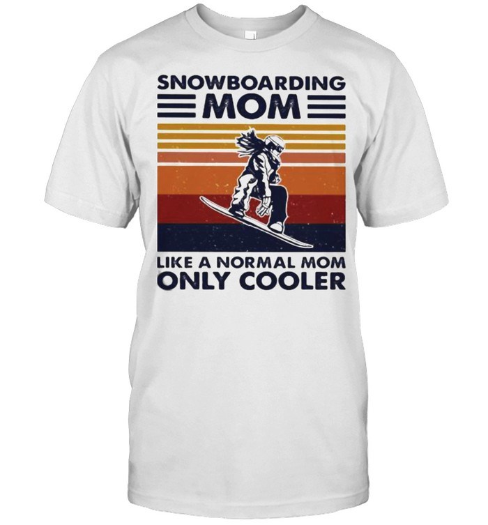 Snowboarding Mom Like A Normal Mom Only Cooler Vintage shirt Classic Men's T-shirt
