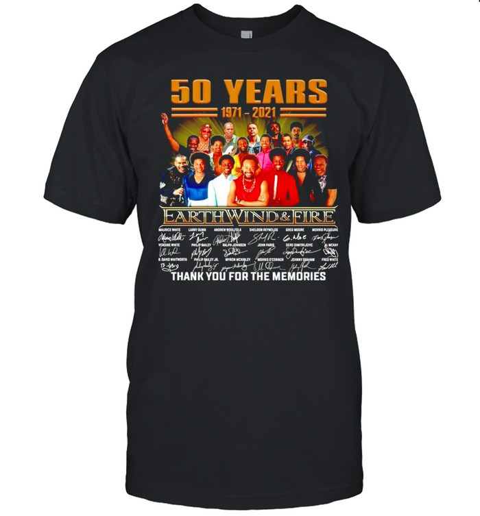 50 years Earth Wind and Fire 1971 2021 thank you for the memories shirt Classic Men's T-shirt