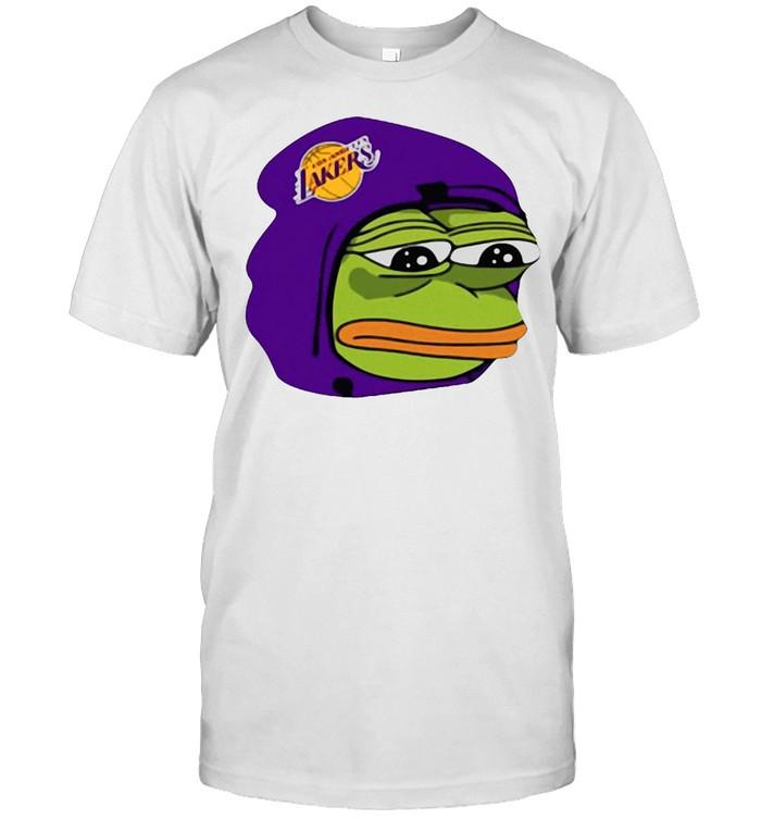 Cool Los Angeles Lakers Sad Pepe The Frog T-shirt Classic Men's T-shirt