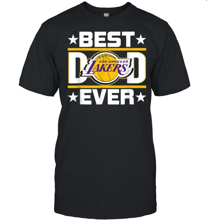 Best Dad Ever Los Angeles Lakers Star  Classic Men's T-shirt