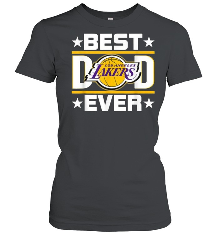 Best Dad Ever Los Angeles Lakers Star  Classic Women's T-shirt