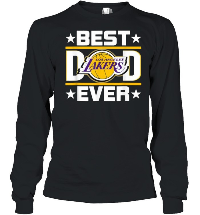Best Dad Ever Los Angeles Lakers Star  Long Sleeved T-shirt