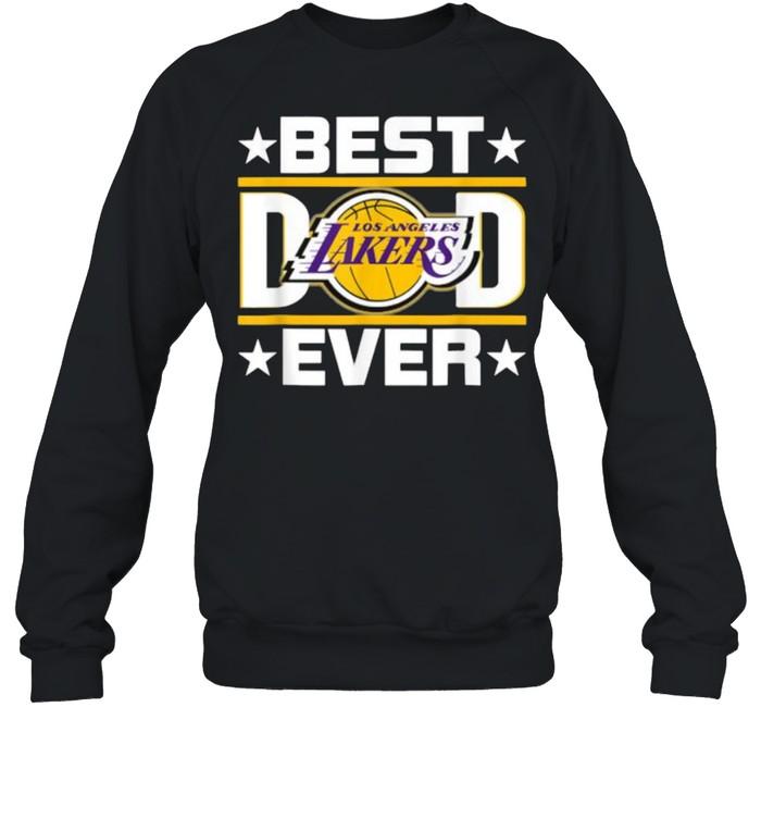 Best Dad Ever Los Angeles Lakers Star  Unisex Sweatshirt