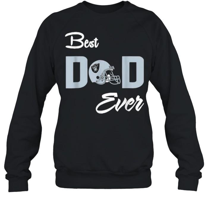 Best Dad ever raider football shirt Unisex Sweatshirt