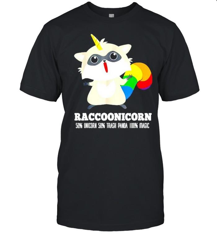 Racoonicorn 50% unicorn 50% trash panda 100% magic shirt Classic Men's T-shirt