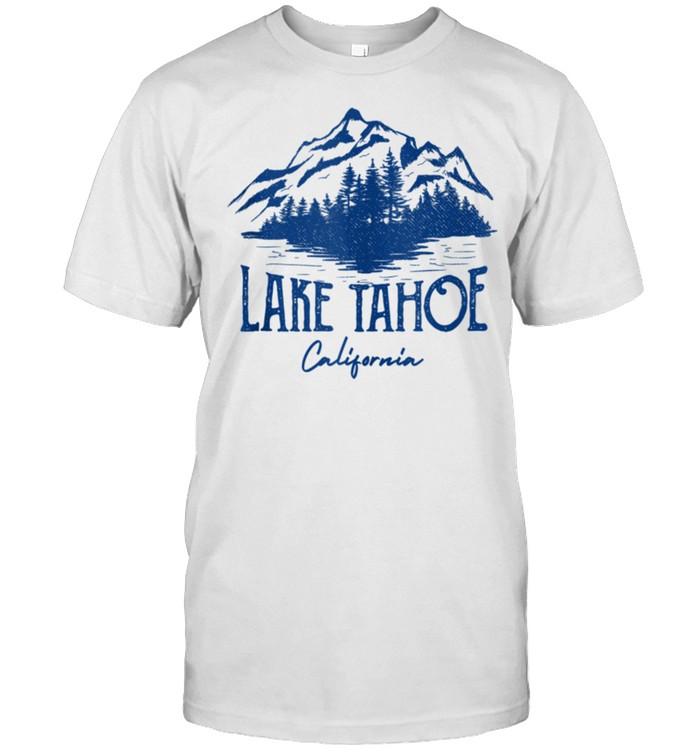 Lake Tahoe California Retro Mountain Vintage shirt Classic Men's T-shirt