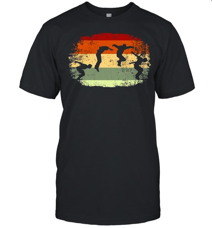 Parkour Running Climber Obstacle Course Vintage Parkour T-shirt Classic Men's T-shirt