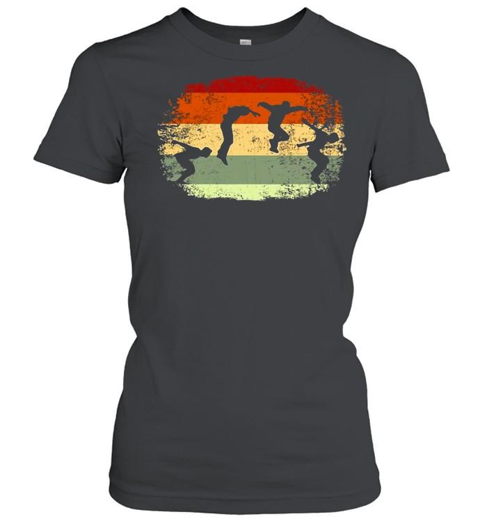 Parkour Running Climber Obstacle Course Vintage Parkour T-shirt Classic Women's T-shirt