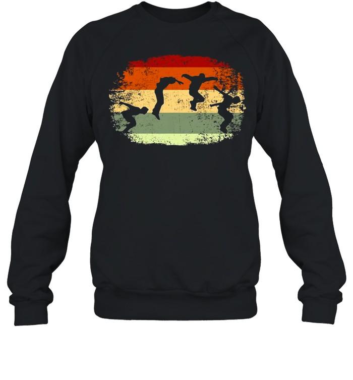 Parkour Running Climber Obstacle Course Vintage Parkour T-shirt Unisex Sweatshirt