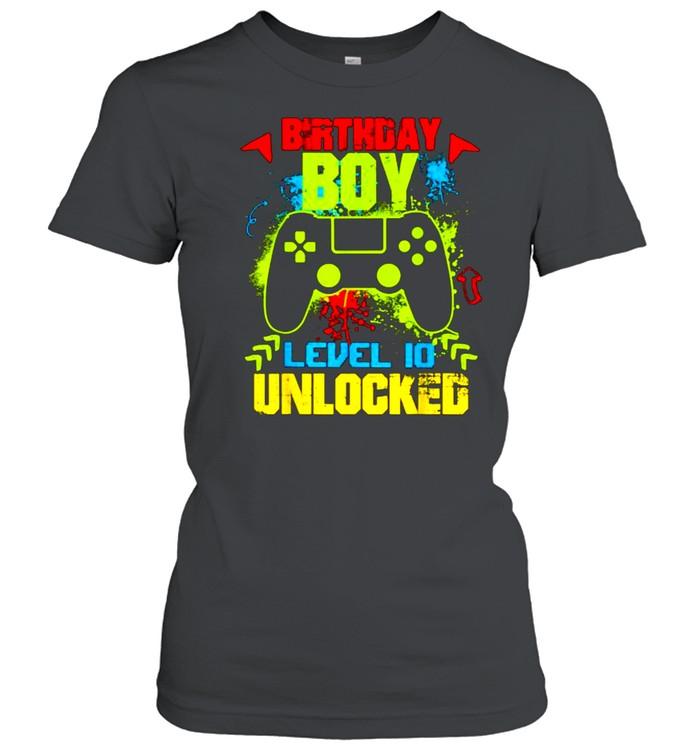 Birthday Boy Level 10 Unlocked Video Gamer T- Classic Women's T-shirt