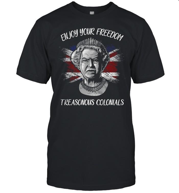 Enjoy Your Freedom Treasonous Colonials T-shirt Classic Men's T-shirt
