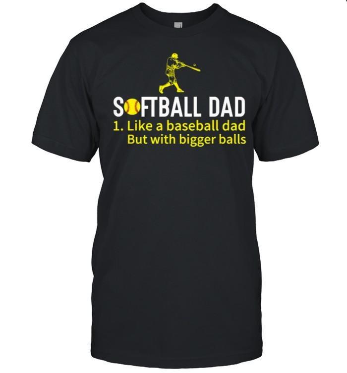 Softball Dad Like a Baseball Dad With Bigger Balls T- Classic Men's T-shirt