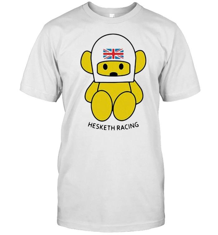 Hesketh Racing Bear Helmet American Flag  Classic Men's T-shirt