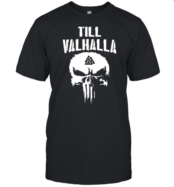 Till Valhalla Skull  Classic Men's T-shirt