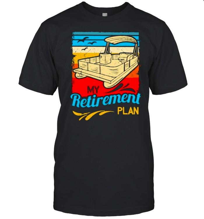 My Retirement Plan Pontoon Vintage  Classic Men's T-shirt