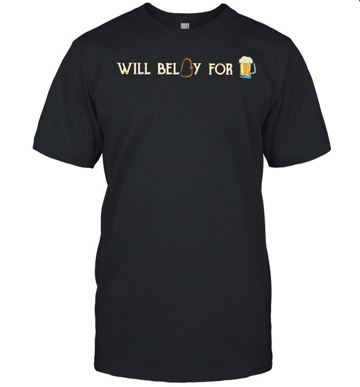 Will belay for beer shirt Classic Men's T-shirt