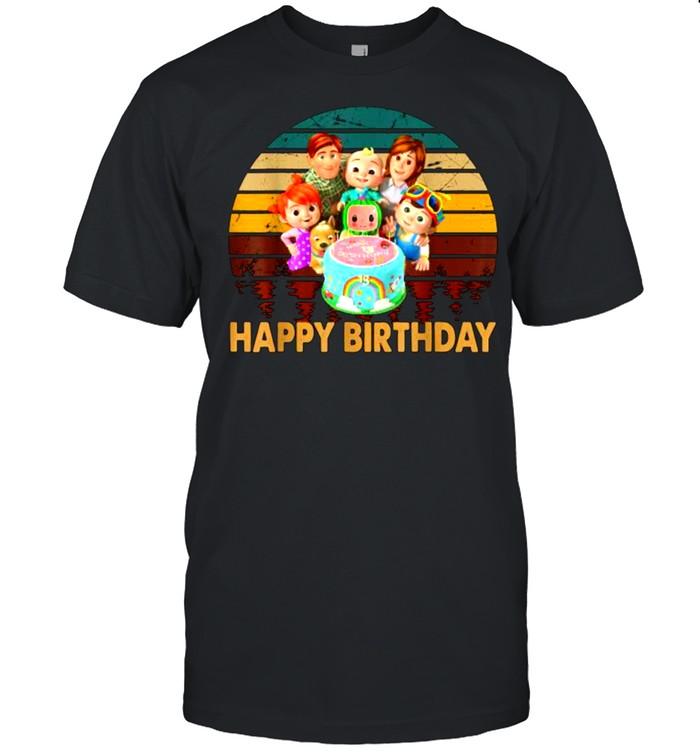 Happy Birthday Cocomelon Merch Animation Rhymes Vinatge T- Classic Men's T-shirt