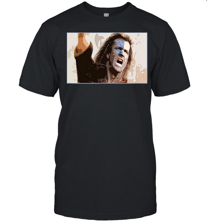 Mens Freedom Scotland Movie Braveheart T-shirt Classic Men's T-shirt