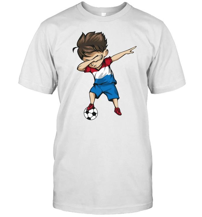 Dabbing Soccer Boy Netherlands Jersey Dutch Football shirt Classic Men's T-shirt