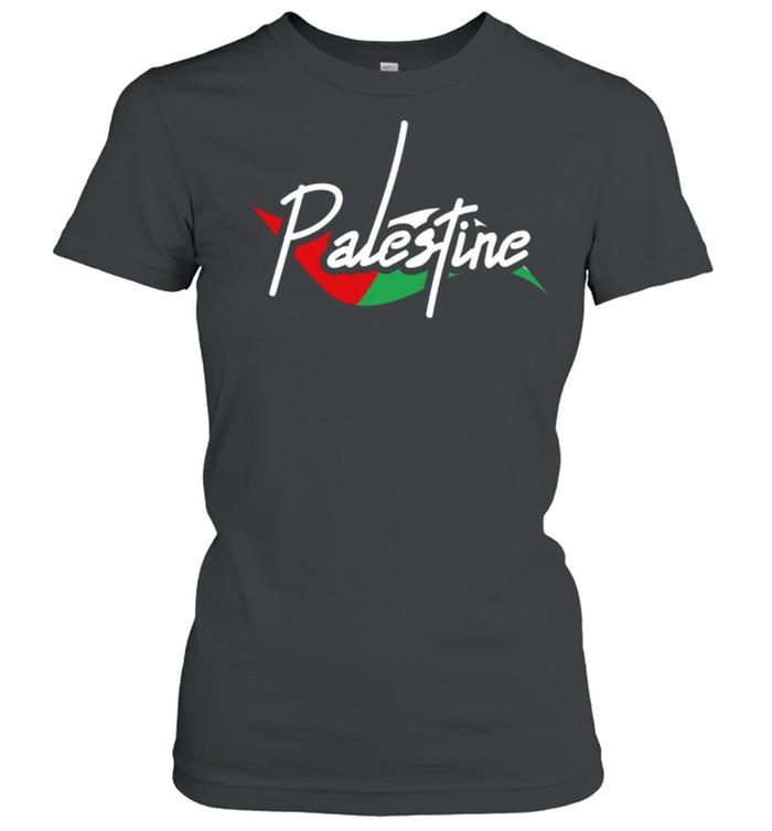 Palestine Eye With Flag The Arab Symbol Fist Of Palestine shirt Classic Women's T-shirt