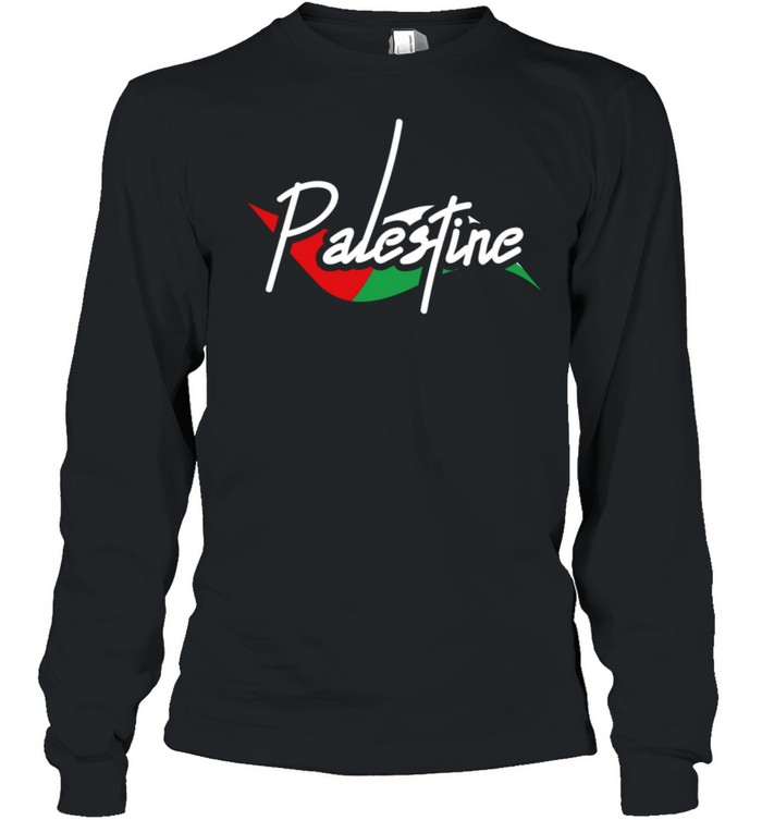 Palestine Eye With Flag The Arab Symbol Fist Of Palestine shirt Long Sleeved T-shirt