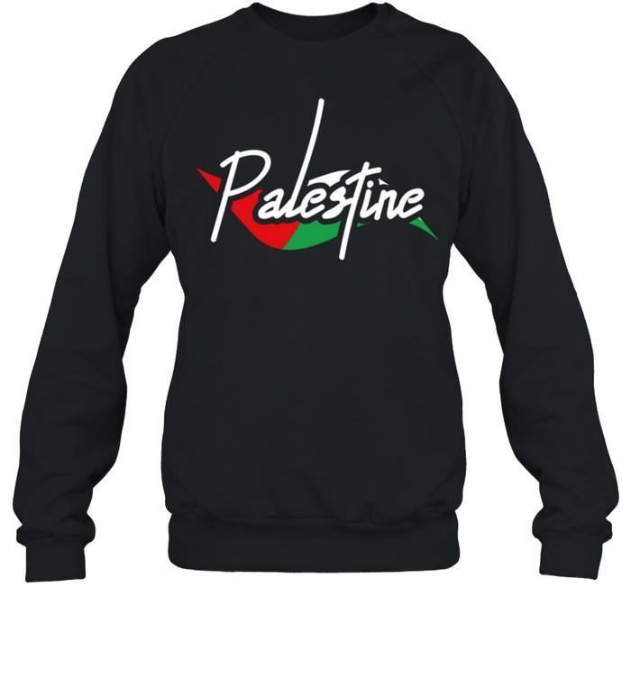 Palestine Eye With Flag The Arab Symbol Fist Of Palestine shirt Unisex Sweatshirt